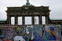 'Brandenburg Gate and graffiti' - Berlin Wall west zone.18 November 1989