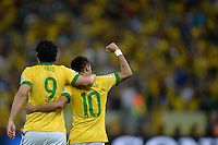 RIO DE JANEIRO - RJ - BRASIL - 30.6.2013 - Fred comemora gol marcado durante partida entre Brasil x Espanha, valida pela final da Copa das Confederacoes 2013.<br /> FOTO: Douglas Magno / Brazil Photo Press