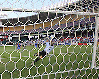 Dagoberto Portillo #1 of El Salvador makes a save during an international charity match against D.C. United at RFK Stadium, on June 19 2010 in Washington DC. D.C. United won 1-0.