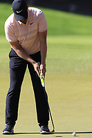Tom Lewis (ENG) putts on the 3rd green during Saturday's Round 3 of the 2018 Turkish Airlines Open hosted by Regnum Carya Golf &amp; Spa Resort, Antalya, Turkey. 3rd November 2018.<br /> Picture: Eoin Clarke | Golffile<br /> <br /> <br /> All photos usage must carry mandatory copyright credit (&copy; Golffile | Eoin Clarke)