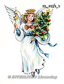 Interlitho, CHRISTMAS CHILDREN, WEIHNACHTEN KINDER, NAVIDAD NIÑOS, paintings+++++,KL6019/3,#xk# nostalgic,retro, angel,