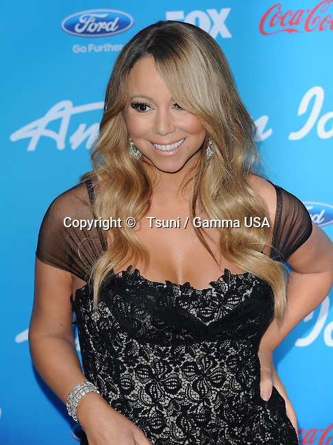 Mariah Carey 49 at the American Idol, the 10 Finalists party at the Groves in Los Angeles.