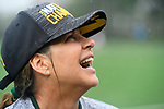 TAMPA, FL - MAY 20:  Head Coach Kathy Taylor of the Le Moyne Dolphins celebrates after defeating the Florida Southern Mocs during the Division II Women's Lacrosse Championship held at the Naimoli Family Athletic and Intramural Complex on the University of Tampa campus on May 20, 2018 in Tampa, Florida. Le Moyne defeated Florida Southern 16-11 for the national title. (Photo by Jamie Schwaberow/NCAA Photos via Getty Images)