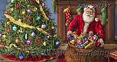 Marcello, CHRISTMAS SANTA, SNOWMAN, WEIHNACHTSMÄNNER, SCHNEEMÄNNER, PAPÁ NOEL, MUÑECOS DE NIEVE, paintings+++++,ITMCXM1587,#X#