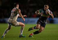 Harlequins' Francis Saili in action during todays match<br /> <br /> Photographer Bob Bradford/CameraSport<br /> <br /> Gallagher Premiership Round 9 - Harlequins v Exeter Chiefs - Friday 30th November 2018 - Twickenham Stoop - London<br /> <br /> World Copyright &copy; 2018 CameraSport. All rights reserved. 43 Linden Ave. Countesthorpe. Leicester. England. LE8 5PG - Tel: +44 (0) 116 277 4147 - admin@camerasport.com - www.camerasport.com