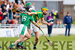 Jack Goulding Ballyduff in action against Stephen Power Lixnaw in the Senior County Hurling Final in Austin Stack Park on Sunday