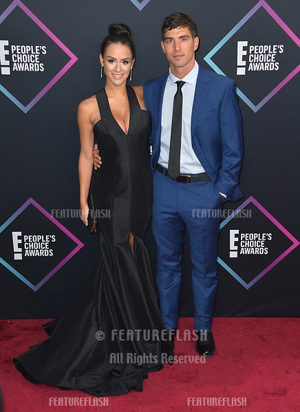 LOS ANGELES, CA. November 11, 2018: Cody Nickson & Jessica Graf at the E! People's Choice Awards 2018 at Barker Hangar, Santa Monica Airport.<br /> Picture: Paul Smith/Featureflash
