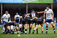 Nic White of Exeter Chiefs looks to kick the ball. Aviva Premiership match, between Exeter Chiefs and Bath Rugby on December 2, 2017 at Sandy Park in Exeter, England. Photo by: Patrick Khachfe / Onside Images