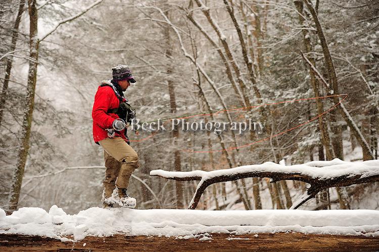 Toby Thompson headwaters of Fishing Creek in the winter season