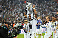 Pictured: Ashley Williams. Sunday 24 February 2013<br /> Re: Capital One Cup football final, Swansea v Bradford at the Wembley Stadium in London.