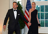 Fox Corporation Chief Executive Officer and Co-Chairman of News Corp Lachlan Murdoch and Sarah Murdoch arrive for the State Dinner hosted by United States President Donald J. Trump and First lady Melania Trump in honor of Prime Minister Scott Morrison of Australia and his wife, Jenny Morrison, at the White House in Washington, DC on Friday, September 20, 2019.<br /> Credit: Ron Sachs / Pool via CNP