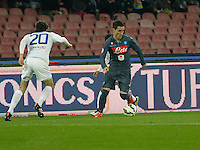 Jose Callejon  during the Italian Serie A soccer match between   SSC Napoli and Atalanta  at San Paolo  Stadium in Naples ,March 22 , 2015<br /> <br /> <br /> incontro di calcio di Serie A   Napoli -Atalanta allo  Stadio San Paolo  di Napoli , 22  Marzo 2015