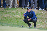 Francesco Molinari (ITA) looks over his putt on 18 during day 5 of the WGC Dell Match Play, at the Austin Country Club, Austin, Texas, USA. 3/31/2019.<br /> Picture: Golffile | Ken Murray<br /> <br /> <br /> All photo usage must carry mandatory copyright credit (&copy; Golffile | Ken Murray)