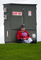 A fan relaxes during the Jock Hobbs Memorial Under-19 Tournament rugby match between Heartland and Hawkes Bay at Owen Delany Park in Taupo, New Zealand on Saturday, 16 September 2012. Photo: Dave Lintott / lintottphoto.co.nz