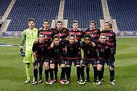 Chester, PA - Friday December 08, 2017: Stanford University Starting Eleven The Stanford Cardinal defeated the Akron Zips 2-0 during an NCAA Men's College Cup semifinal match at Talen Energy Stadium.