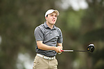 HOWEY IN THE HILLS, FL - MAY 19: Zach Evens of Guilford College tees off during the Division III Men's Golf Championship held at the Mission Inn Resort and Club on May 19, 2017 in Howey In The Hills, Florida. (Photo by Cy Cyr/NCAA Photos via Getty Images)