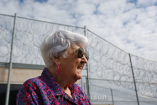Trent Nelson  |  The Salt Lake Tribune.Draper - The Utah Board of Pardons and Parole announced their unanimous decision to deny Ronnie Lee Gardner's request for commutation Monday, June 14, 2010. He is scheduled to be executed by firing squad Friday. VelDean Kirk, widow of Gardner victim Nicolas G. Kirk, outside the prison following the decision.