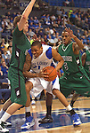 March 22,  2010                                           Saint Louis forward Jon Smith (21, center) tries to push his way closer to the basket as he's guarded by Wisconsin-Green Bay forward Pat Nelson (50, left) and Wisconsin-Green Bay guard Rian Pearson (5, right) in the first half.    The St. Louis University Billikens hosted the University of Wisconsin- Green Bay Phoenix in a quarterfinal (second) round game of the College Basketball Invitational Tournament on Monday March 22, 2010 at Saint Louis University's Chaifetz Arena, located near downtown St. Louis.