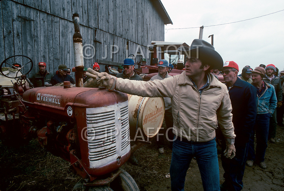 Georgia, USA, September, 1978. Farms are being auctioned as a result of consecutive bad harvests due to the droughts.