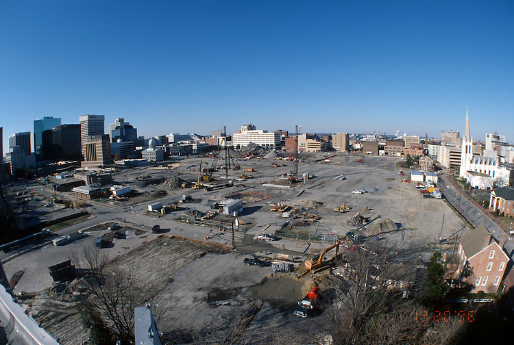 1996 DECEMBER 12..Redevelopment..Macarthur Center.Downtown North (R-8)..LOOKING WEST.SUPERWIDE...NEG#.NRHA#..