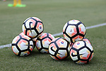 CARY, NC - JULY 11: Nike NWSL soccer balls. The North Carolina Courage held a training session on July 11, 2017, at WakeMed Soccer Park Field 6 in Cary, NC.