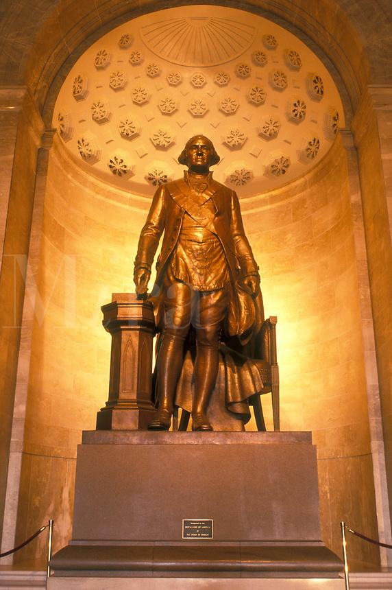 Alexandria, VA, Virginia, Statue of George Washington inside The George Washington Masonic National Memorial in Alexandria.