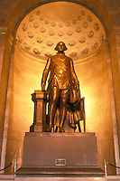 Alexandria, VA, Virginia, Statue of George Washington inside The George Washington Masonic National Memorial in Alexandria.