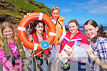 SAFETY: Announcing the details of swimming and water safety courses at Meenogohane Pier on Friday last, l-r: Sinead Leen, Christine Meehan, Stacey O'Connor, Katie Brassil, Katie Casey.