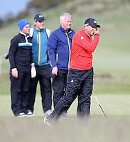 27 May 2015; Sergio Garcia playing the 18th<br /> <br /> Dubai Duty Free Irish Open Golf Championship 2015, Pro-Am. Royal County Down Golf Club, Co. Down. Picture credit: John Dickson / DICKSONDIGITAL