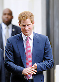 HRH Prince Harry leaves Russell building after touring an anti-landmine photography exhibition by The HALO Trust charity during the first day of his visit to the United States  on May 9, 2013 in Washington, DC. .Credit: Olivier Douliery / CNP