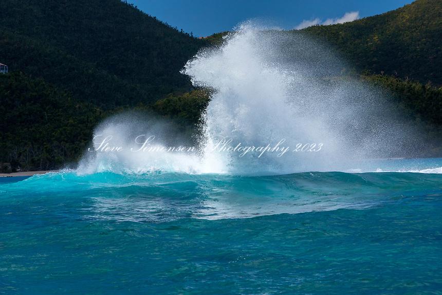 North swell on Johnson's Reef<br /> St. John<br /> US Virgin Islands
