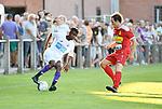 2018-07-14 / Voetbal / Seizoen 2018-2019 / FC Kontich - KFCO Beerschot Wilrijk / Youad Ndombasi (l. B-W) met Victor De Cock<br /> <br /> ,Foto: Mpics