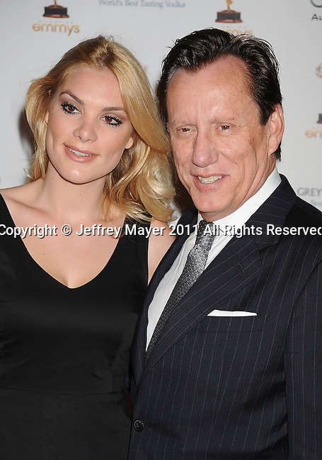WEST HOLLYWOOD, CA - SEPTEMBER 16: James Woods and Ashley Madison attend the 63rd Annual Emmy Awards Performers Nominee Reception held at the Pacific Design Center on September 16, 2011 in West Hollywood, California.