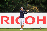 Marina Alex (USA) on the 3rd tee during Round 3 of the Ricoh Women's British Open at Royal Lytham &amp; St. Annes on Saturday 4th August 2018.<br /> Picture:  Thos Caffrey / Golffile<br /> <br /> All photo usage must carry mandatory copyright credit (&copy; Golffile | Thos Caffrey)