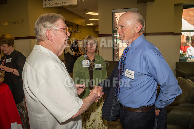 Sutter Amador Hospital annual reception to honor donors to the Sutter Amador Foundation<br /> <br /> Stan Lukowicz and Dr. Lincoln Russin who donated his father's sculpture to Sutter Amador along with CEO Anne Platt