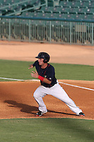 Alex Bregman (6) of the Lancaster JetHawks, the second player overall to be chosen in the 2015 MLB draft, runs the bases during a game against the Bakersfield Blaze at The Hanger on August 5, 2015 in Lancaster, California. Bakersfield defeated Lancaster, 12-5. (Larry Goren/Four Seam Images)