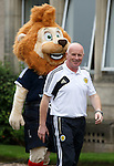 Peter Houston being stalked by a Lion