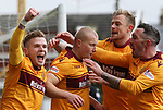 31.3.2018: Motherwell v Rangers: <br /> Curtis Main takes the acclaim for his penalty