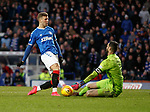01.02.2020 Rangers v Aberdeen: Florian Kamberi shoots but is flagged offside as Joe Lewis saves