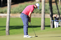 Sam Horsefield (ENG) putts on the 16th green during Friday's Round 2 of the 2018 Turkish Airlines Open hosted by Regnum Carya Golf &amp; Spa Resort, Antalya, Turkey. 2nd November 2018.<br /> Picture: Eoin Clarke | Golffile<br /> <br /> <br /> All photos usage must carry mandatory copyright credit (&copy; Golffile | Eoin Clarke)