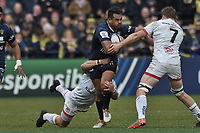 11th January 2020, Parc des Sports Marcel Michelin, Clermont-Ferrand, Auvergne-Rhône-Alpes, France; European Champions Cup Rugby Union, ASM Clermont versus Ulster;  Iasia Toeava (asm)  runs into the contact of Jordi Murphy of Ulster