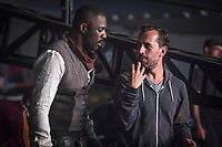 The Dark Tower (2017) <br /> Idris Elba (L) discusses a shot with Director, Nikolaj Arcel (R) on the set of <br /> *Filmstill - Editorial Use Only*<br /> CAP/KFS<br /> Image supplied by Capital Pictures