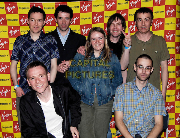 BELLE & SEBASTIAN.At Virgin Megastore, London, UK..April 3rd, 2006.Ref: HT.half length band music .www.capitalpictures.com.sales@capitalpictures.com.©Capital Pictures