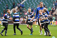 A general view of Community action on the pitch prior to the match. The Clash, Aviva Premiership match, between Bath Rugby and Leicester Tigers on April 7, 2018 at Twickenham Stadium in London, England. Photo by: Patrick Khachfe / Onside Images