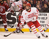 Tyler Moy (Harvard - 2), Nick Roberto (BU - 15) - The Harvard University Crimson defeated the Boston University Terriers 6-3 (EN) to win the 2017 Beanpot on Monday, February 13, 2017, at TD Garden in Boston, Massachusetts.