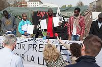 2014/04/01 Berlin | PK Flüchtlinge zum Umzug vom Oranienplatz-Camp