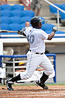 Michael McDade(40) of the Dunedin Blue Jays during a game vs. the Bradenton Marauders May 16 2010 at Dunedin Stadium in Dunedin, Florida. Bradenton won the game against Dunedin by the score of 3-2.  Photo By Scott Jontes/Four Seam Images