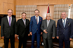 Palestinian President Mahmoud Abbas meets with President of the Federation of Chambers of Commerce and Industry in Ankara, Turkey, August 29, 2017. Photo by Osama Falah
