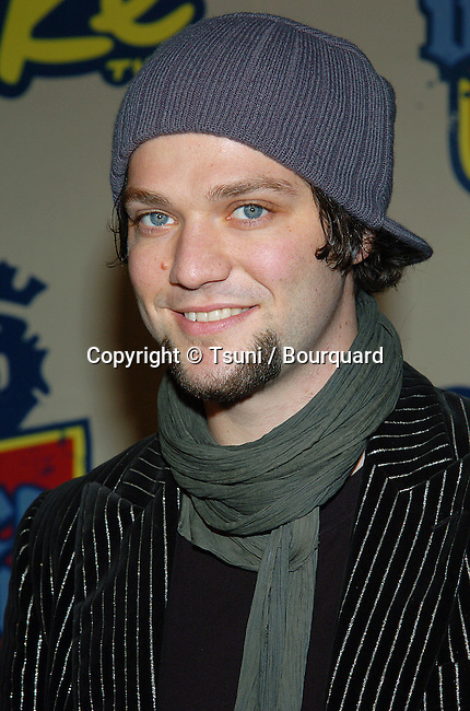 Bam Margera  arriving at the Spike TV Video Game Awards at the Santa Monica Barker Hangar in Los Angeles. December 14, 2004.