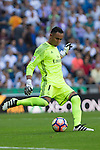 Real Madrid's Keylor Navas durign the match of La Liga between Real Madrid and SD Eibar at Santiago Bernabeu Stadium in Madrid. October 02, 2016. (ALTERPHOTOS/Rodrigo Jimenez)